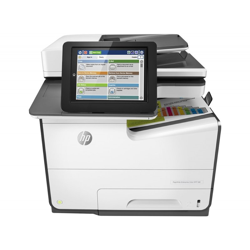 Impressora Multifuncional HP pagewide enterprise color mfp 586dn