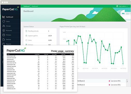 O PaperCut é um sistema de monitoramento e controle de impressão que funciona em rede