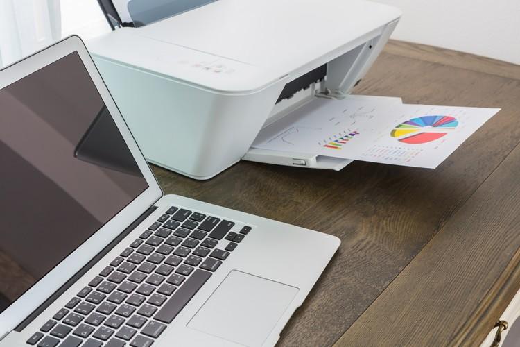 Escolhendo a impressora e o tipo de papel